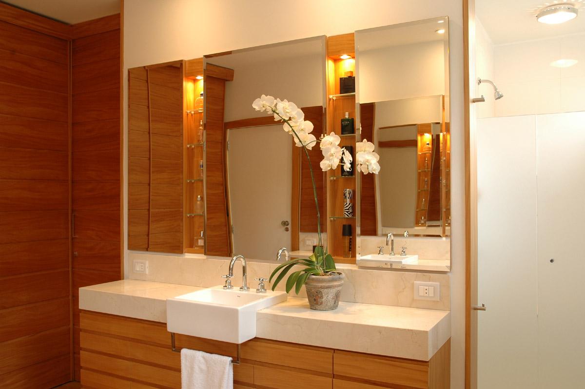 MorasBessone Arquitetos  cuba de semiencaixe -> Pia Banheiro Semi Encaixe